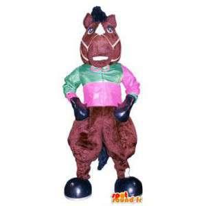 Déguisement de poney mascotte colorée personnage cirque