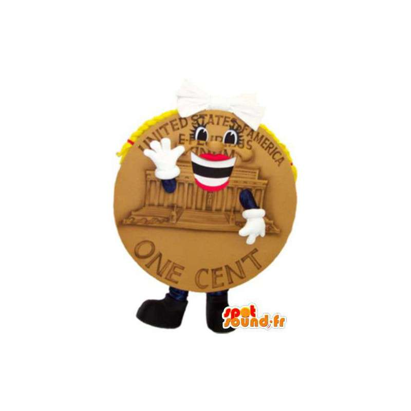 Mascot piece - With one U.S. cent look fancy - MASFR005231 - Mascots of objects