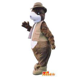 Adult mascot costume suit with tie chic - MASFR005234 - Mascots of objects