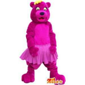 Maskotti puku vaaleanpunainen nalle ballerina Tutu - MASFR005238 - Bear Mascot