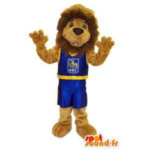 Vermomming mascotte Leo de Leeuw van de RBC Royal Bank