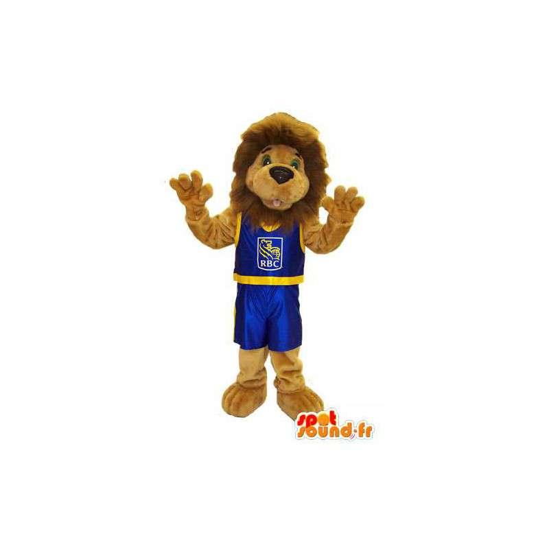 Kostüm-Maskottchen Leo der Löwe RBC Royal Bank - MASFR005243 - Löwen-Maskottchen