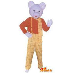 Mascot Skippy Erdnussbutter ave blaue Kappe - MASFR005246 - Fast-Food-Maskottchen