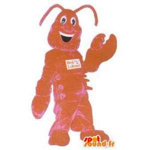 Red Lobster ravintolan maskotti puku aikuinen hummeri