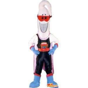 Molho picante mascote traje de super-herói - MASFR005248 - super-herói mascote