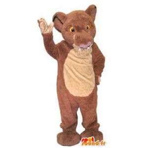 Dziecko maskotka kostium lew brązowy charakter