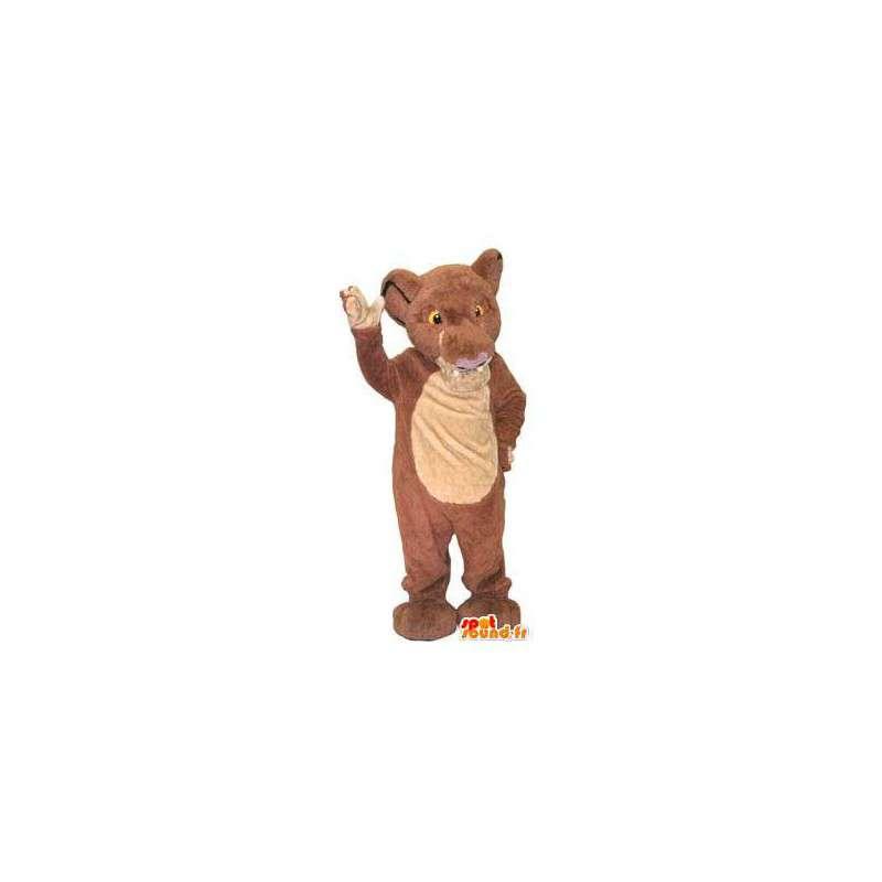 Maskottchenkostüm Charakterbaby brauner Löwe - MASFR005251 - Löwen-Maskottchen