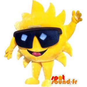 Aikuinen maskotti puku merkki aurinkolasit - MASFR005252 - Mascottes non-classées