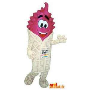 Yoghurt Mascot Volwassen Kostuum Yogen Fruz