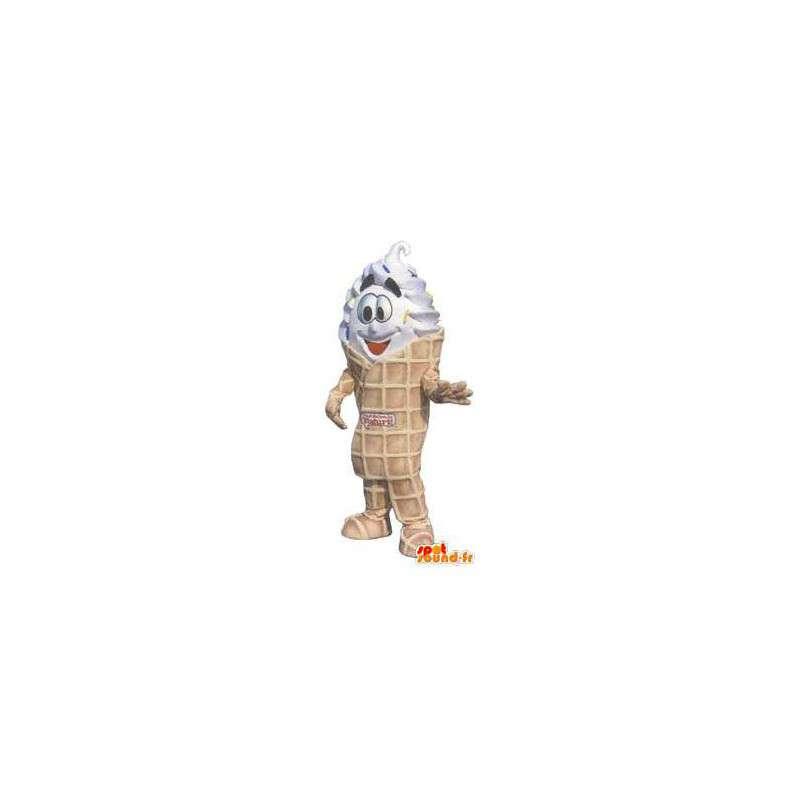 Mascot costume adult fancy ice cream cone - MASFR005267 - Fast food mascots