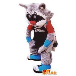 Erwachsene Kostüm Waschbär Dachs Basketball-Sport - MASFR005275 - Sport-Maskottchen