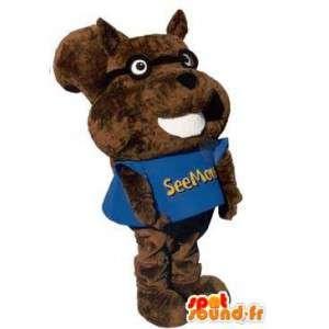 Mascota de la ardilla divertida con la camiseta traje adulto - MASFR005276 - Ardilla de mascotas