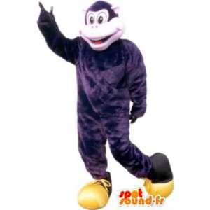 Costume scimmia viola personaggio umoristico peluche