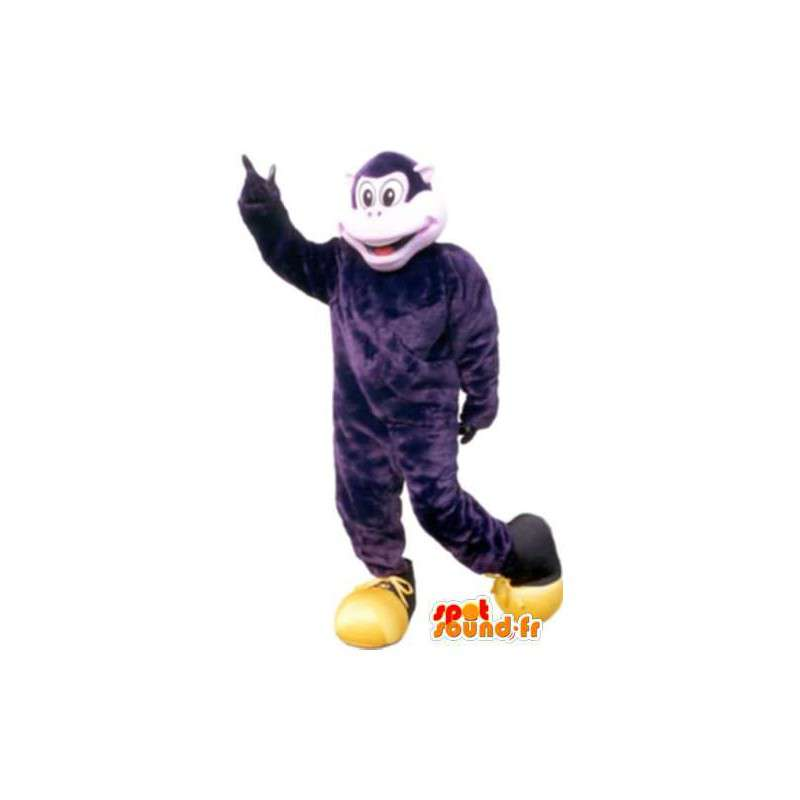 Postać przebranie pluszowy purpurowy humorystyczny małpa - MASFR005283 - Monkey Maskotki