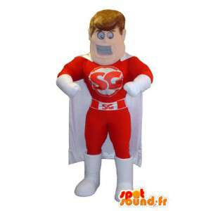 Maskot kostyme superhelt SG merkevare - MASFR005286 - superhelt maskot