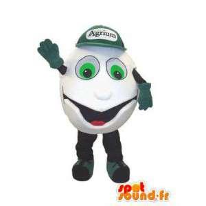 Mascot character Agrium fertilizer for soil - MASFR005289 - Mascots of plants