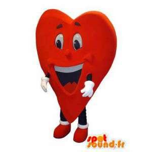 Vuxen kostymmaskot i form av ett levande hjärta - Spotsound