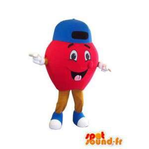Roter Apfel Charakter Maskottchen Kostüm für Erwachsene - MASFR005295 - Obst-Maskottchen