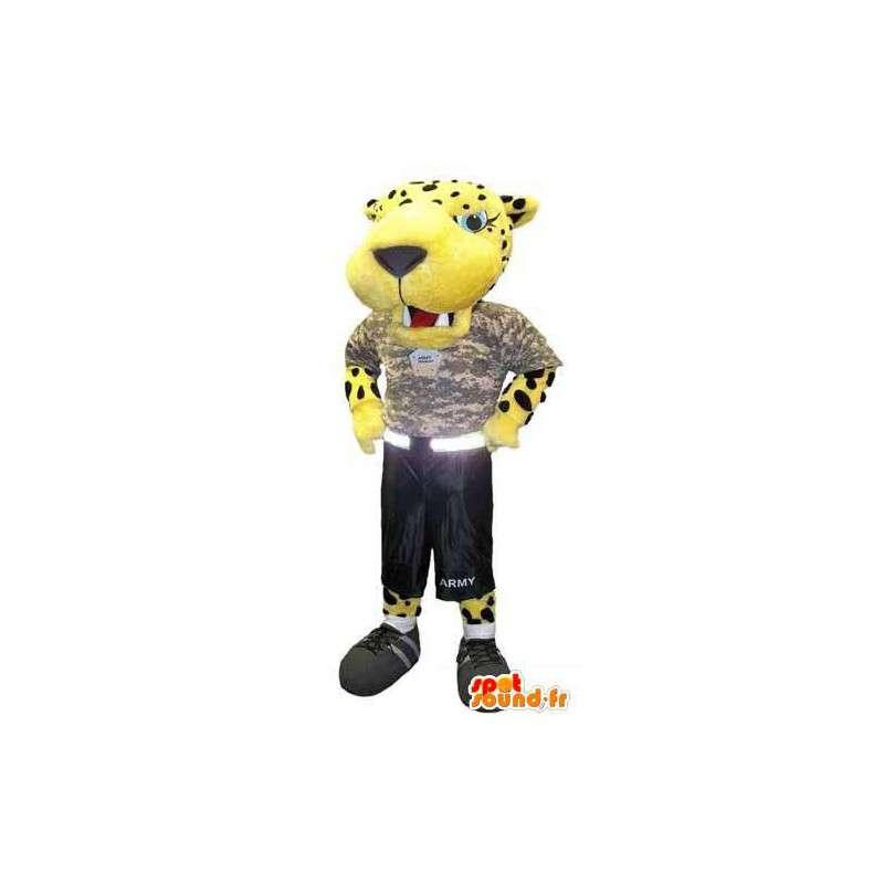 Kostým pro dospělé maskot tygr ozbrojený voják - MASFR005296 - Mascottes Tigre