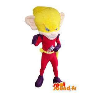 Costume volwassen superheld kostuum aap mascotte