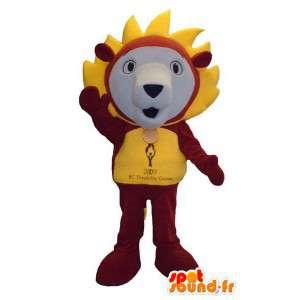 Mascota del león del carácter traje de lujo