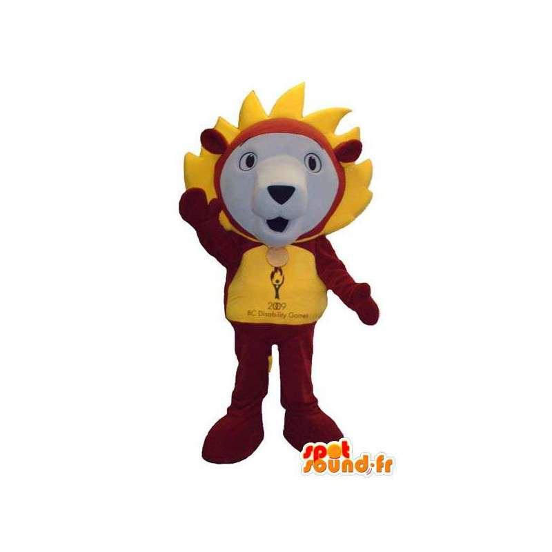 Charakter Löwen-Maskottchen-Kostüm-Abend - MASFR005305 - Löwen-Maskottchen