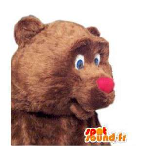 Mascot nannies fylt med kostyme klovn nese - MASFR005307 - Maskoter Circus