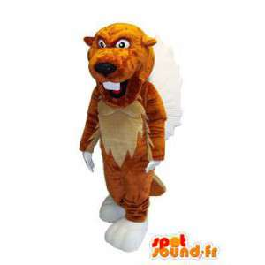 Character mascot plush tiger costume for adult