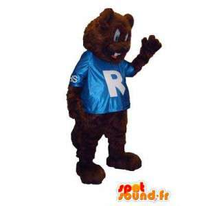 Bear mascot costume naughty teddy R - MASFR005311 - Bear mascot