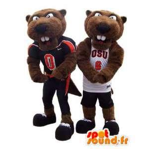 Duo groundhog mascot costume sports jerseys with - MASFR005312 - Sports mascot