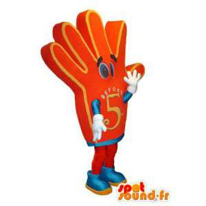 Mascot character hand-shaped red mark Before 5 - MASFR005315 - Mascots unclassified