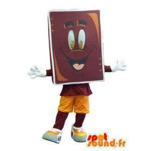 Merkki maskotti puku aikuinen suklaapatukka - MASFR005317 - Mascottes de patisserie
