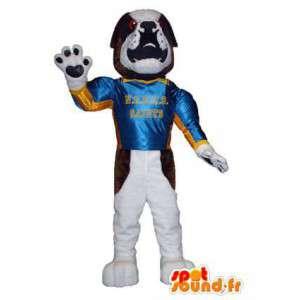 Bulldog superhelt hundemaskot voksen kostume - Spotsound maskot