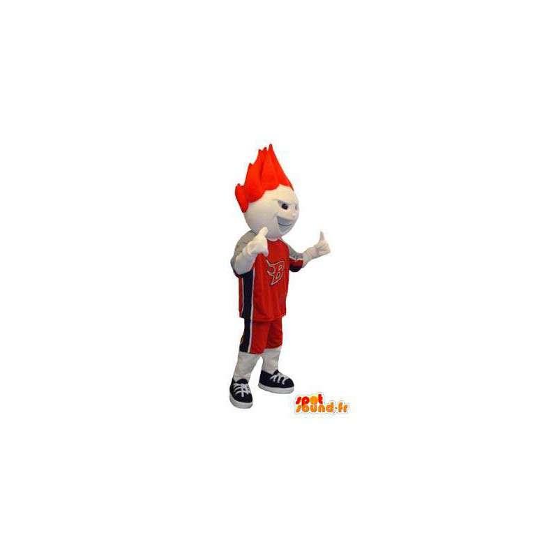 Costume pour adulte de mascotte de personnage blanc basketteur - MASFR005323 - Mascotte sportives