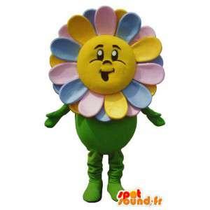 カラフルな花のキャラクターのマスコットコスチューム-masfr005324-植物のマスコット