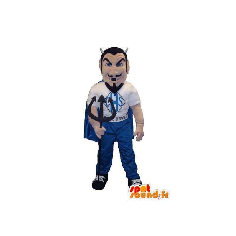 Costume de mascotte de diablotin avec barbe noire et habits - MASFR005325 - Mascottes de monstres