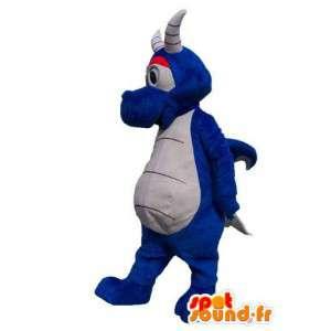 Blauer Drache Charakter Maskottchen Kostüm für Erwachsene - MASFR005327 - Dragon-Maskottchen