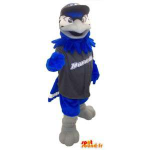 Eagle mascot with sports jersey and cap adult costume - MASFR005328 - Mascot of birds