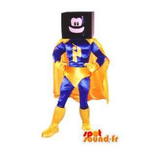 Superhelt kostume tv maskot voksen kostume - Spotsound maskot