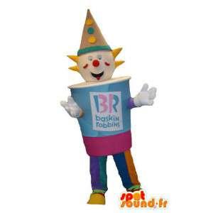 Tonttu puku maskotti jäätelömerkkien Baskin-Robbins - MASFR005337 - joulun Maskotteja