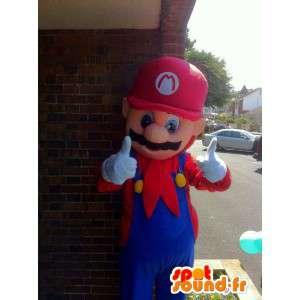 Mascot tegnet Mario Bros. kostyme for voksne