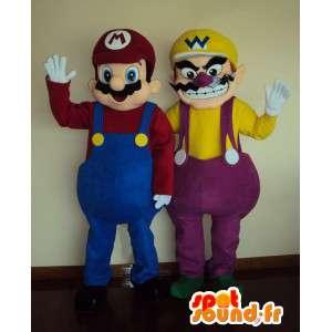 Mascotte karakter - Mario Bros - Wario - vermomming