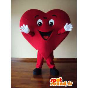 Carácter traje de la mascota de corazón adulto - MASFR005355 - Mascotas sin clasificar