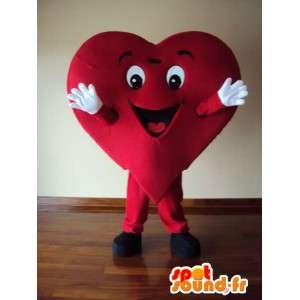 Mascotte de personnage coeur déguisement pour adulte - MASFR005355 - Mascottes non-classées