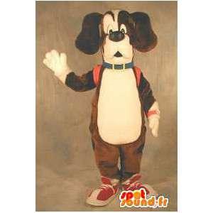 Koira merkki maskotti puku aikuisille - MASFR005361 - koira Maskotteja