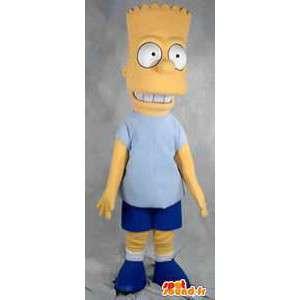 Mascotte karakter Bart Simpson karakter beroemde