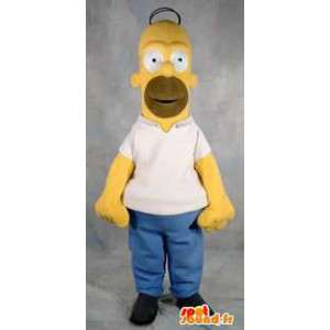 Disguise Voksen Homer Simpson karakter maskot - MASFR005375 - Maskoter The Simpsons