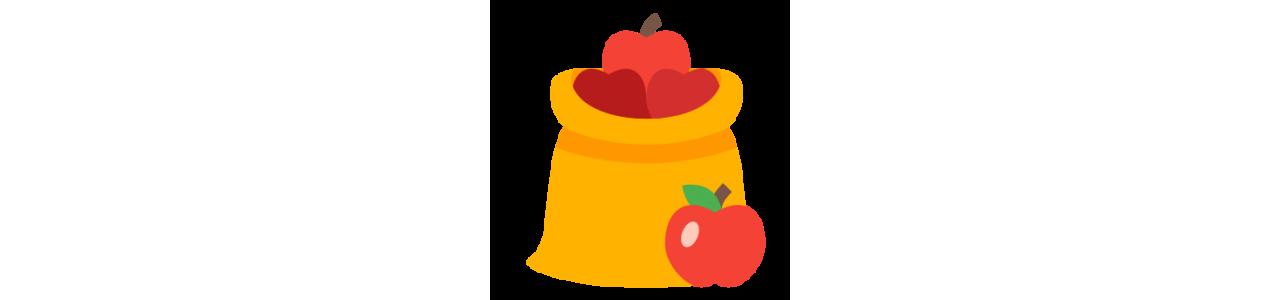 Mascotas de frutas y verduras - Mascota de comida