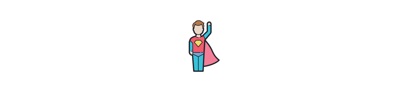Mascote do super-herói - Mascotes clássicos -