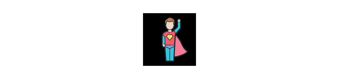Superheld mascotte - Klassieke mascottes -